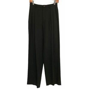 Vintage 80s Issey Miyake Black Wool Pleated Pants